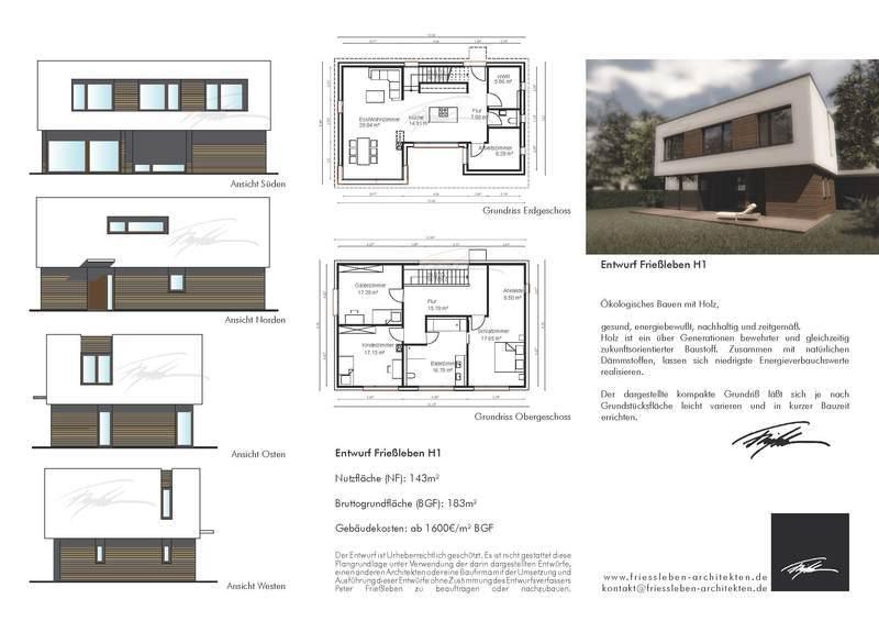 Entwurfe Fur Nachhaltige Haustypen Entwurf Friessleben H1
